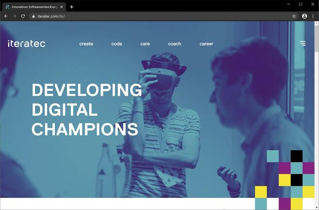 iteratec Website Relaunch - Home Developing Digital Champions